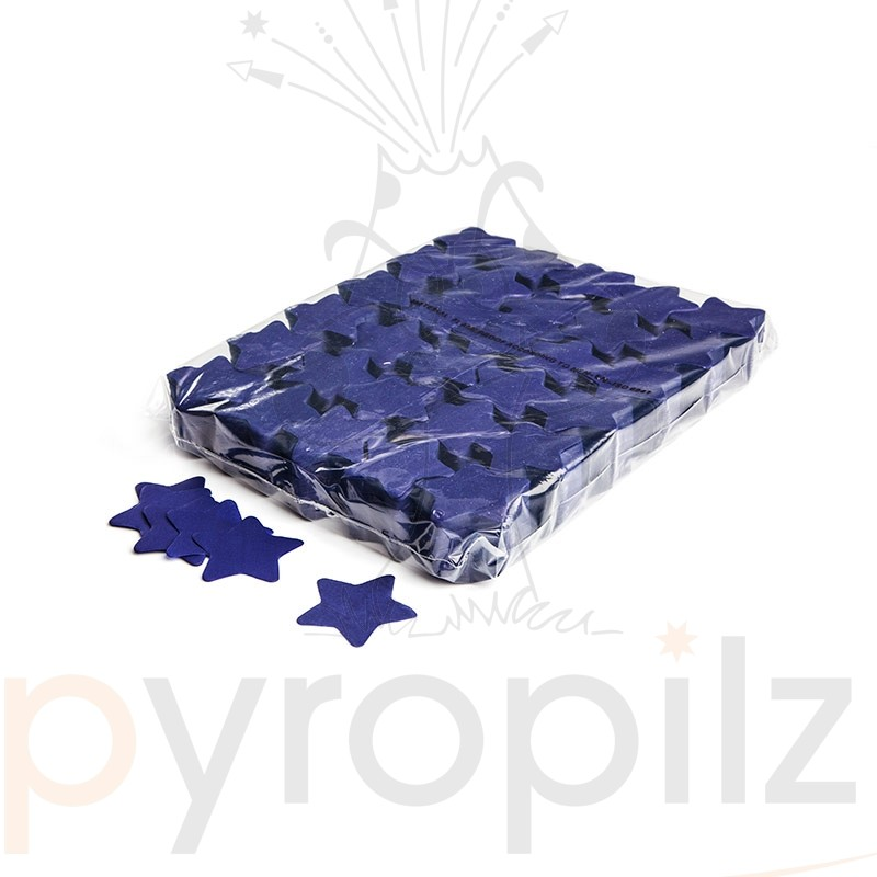 Slowfall confetti stars Ø 55mm - Dark Blue / Bulk Bag 1KG