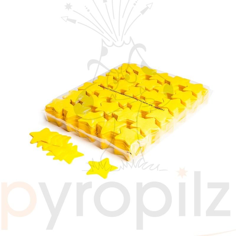 Slowfall confetti stars Ø 55mm - Yellow / Bulk Bag 1KG