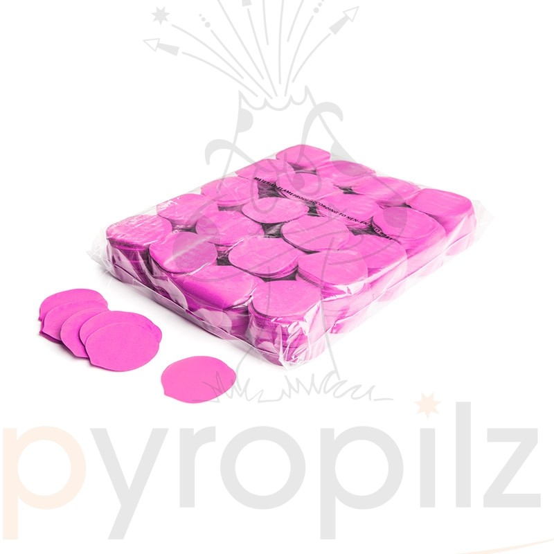 Slowfall confetti rose petals Ø 55mm - Pink / Bulk Bag 1KG
