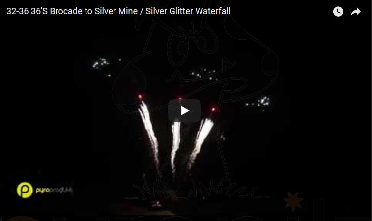 36?S Brocade to Silver Mine / Silver Glitter Waterfall