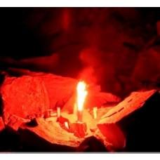 Bengaltopf mit 60 sec. Brenndauer in der Farbe Rot