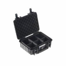 B&W Outdoor Case Type 1000 Schwarz/Facheinteilung