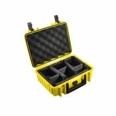 B&W Outdoor Case Type 1000 GelbFacheinteilung