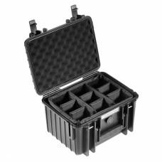 B&W Outdoor Case Type 2000 Schwarz/Facheinteilung