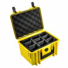 B&W Outdoor Case Type 2000 Gelb/Facheinteilung