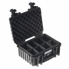 B&W Outdoor Case Type 3000 Schwarz/Facheinteilung