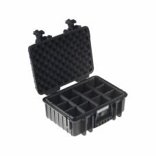B&W Outdoor Case Type 4000 Schwarz/Facheinteilung