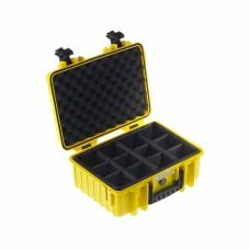 B&W Outdoor Case Type 4000 Gelb/Facheinteilung