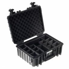 B&W Outdoor Case Type 5000 Schwarz/Facheinteilung