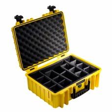 B&W Outdoor Case Type 5000 Gelb/Facheinteilung