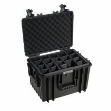 B&W Outdoor Case Type 5500 Schwarz/Facheinteilung