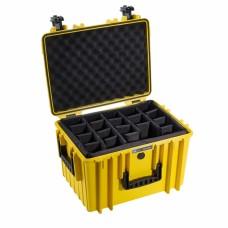 B&W Outdoor Case Type 5500 Gelb/Facheinteilung