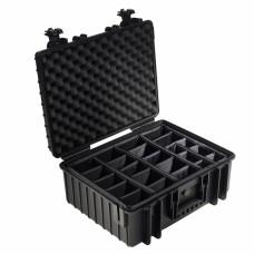 B&W Outdoor Case Type 6000 Schwarz/Facheinteilung
