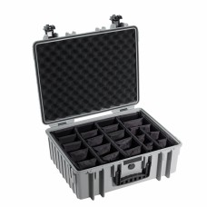 B&W Outdoor Case Type 6000 Grau/Facheinteilung