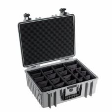 B&W Outdoor Case Type 6000 Grau/Facheinteilung