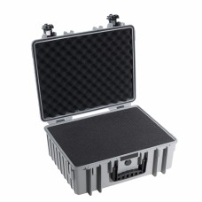 B&W Outdoor Case Type 6000 Grau/Schaumstoff