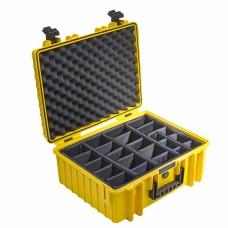 B&W Outdoor Case Type 6000 Gelb/Facheinteilung