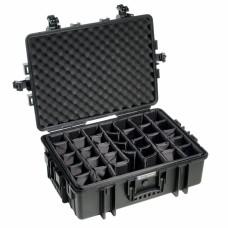 B&W Outdoor Case Type 6500 Schwarz/Facheinteilung