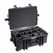 B&W Outdoor Case Type 6700 Schwarz/Facheinteilung