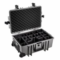 B&W Outdoor Case Type 6700 Grau/Facheinteilung