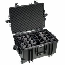 B&W Outdoor Case Type 6800 Schwarz/Facheinteilung