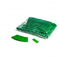 Slowfall confetti rectangles 55x17mm - Dark Green / Bulk Bag 1KG