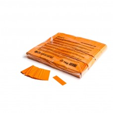 Slowfall confetti rectangles 55x17mm - Orange / Bulk Bag 1KG