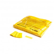 Slowfall confetti rectangles 55x17mm - Yellow / Bulk Bag 1KG