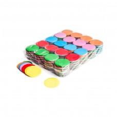 Slowfall confetti rounds Ø 55mm - Multicolour / Bulk Bag 1KG