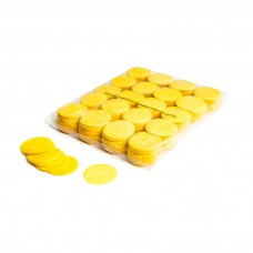 Slowfall confetti rounds Ø 55mm - Yellow / Bulk Bag 1KG