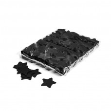 Slowfall confetti stars Ø 55mm - Black / Bulk Bag 1KG