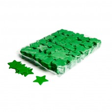 Slowfall confetti stars Ø 55mm - Dark Green / Bulk Bag 1KG