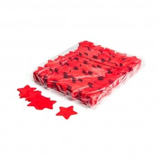 Slowfall confetti stars Ø 55mm - Red / Bulk Bag 1KG