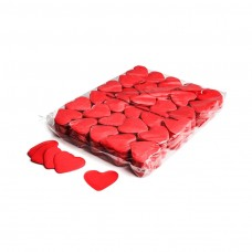 Slowfall confetti hearts Ø 55mm - Red / Bulk Bag 1KG
