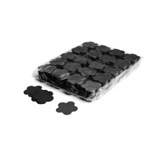 Slowfall confetti flowers Ø 55mm - Black / Bulk Bag 1KG