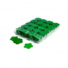 Slowfall confetti flowers Ø 55mm - Dark Green / Bulk Bag 1KG