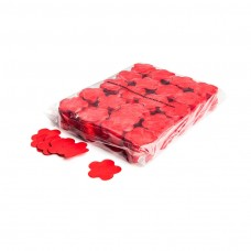 Slowfall confetti flowers Ø 55mm - Red / Bulk Bag 1KG