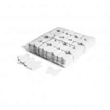 Slowfall confetti butterflies Ø 55mm - White / Bulk Bag 1KG