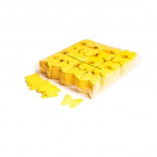 Slowfall confetti butterflies Ø 55mm - Yellow / Bulk Bag 1KG