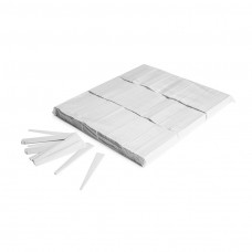 Twister confetti 10cmx0,5cm - White / Bulk Bag 1KG