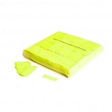 Slowfall UV confetti 55x17mm - Fluo Yellow / Bulk Bag 1KG