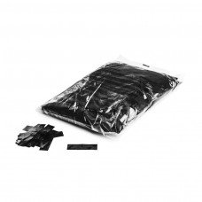 Metallic confetti rectangles 55x17mm - Black / Bulk Bag 1KG