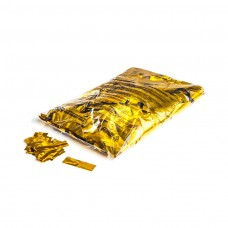 Metallic confetti rectangles 55x17mm - Gold / Bulk Bag 1KG