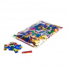 Metallic confetti rectangles 55x17mm - Multicolour / Bulk Bag 1KG