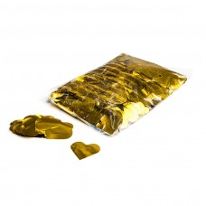 Metallic confetti hearts Ø 55mm - Gold / Bulk Bag 1KG