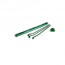 Metallic streamers 5m x 0.85cm - Green / Polybag, 100  streamers