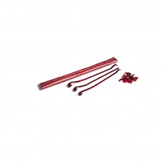 Metallic streamers 5m x 0.85cm - Red / Polybag, 100  streamers