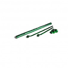 Metallic streamers 10m x 1.5cm - Green / Polybag, 32 streamers