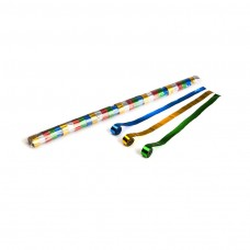 Metallic streamers 10m x 1.5cm - Multicolour / Polybag, 32 streamers