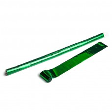 Metallic streamers 10m x 5cm  - Green / Polybag, 10 streamers